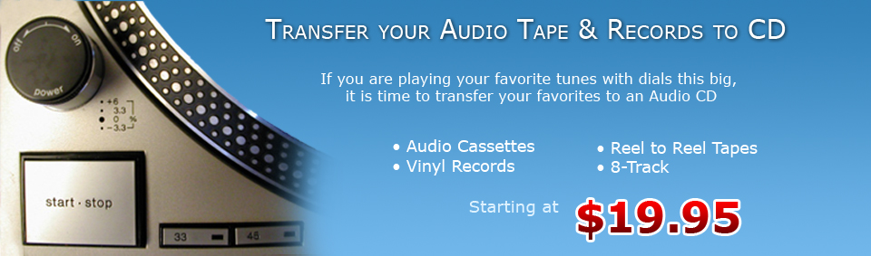 Transfer your audio tape andrecords to CDs